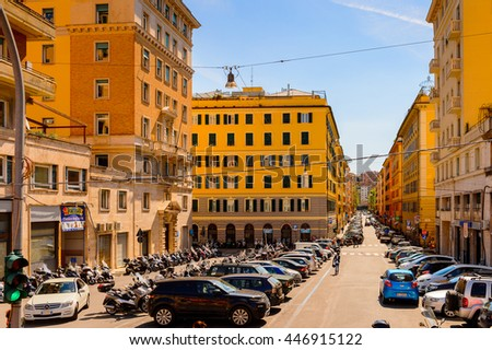 GENOA, ITALY - MAY 4, 2016:  Architecture of  Genoa, Italy. Genoa is the capital of Liguria and the sixth largest city in Italy