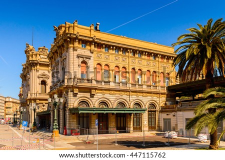 GENOA, ITALY - MAY 4, 2016:  Railway station of   Genoa, Italy. Genoa is the capital of Liguria and the sixth largest city in Italy
