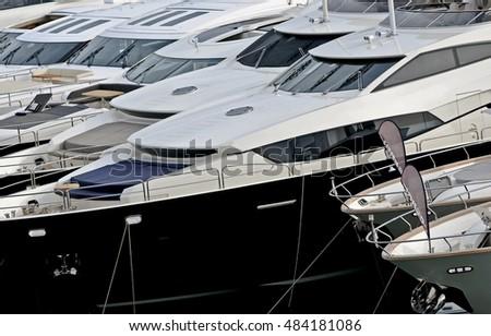 Italy Off Coast Naples Luxury Yacht Stock Photo 287853752