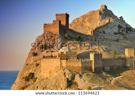 Genoese fortress in Sudak, Crimea