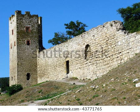 Genoese fortress in Theodosia - stock photo