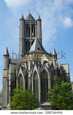 Gent Cathedral - stock photo