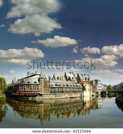 Gent's canals, Belgium - stock photo