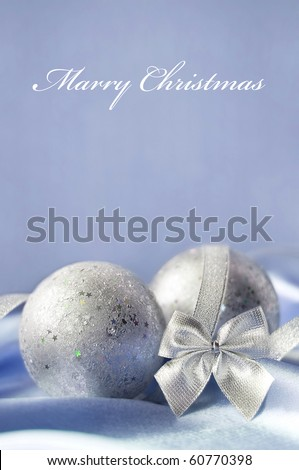 Gentle christmas card - stock photo