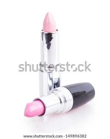 gentle Lipstick isolated on white background - stock photo