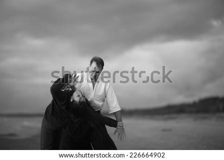 Gentle martial art - stock photo