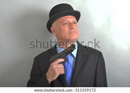 Gentleman Hit man - stock photo