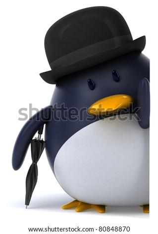 Gentleman penguin - stock photo