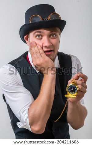 Gentleman with watch