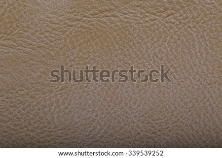 Genuine leather Light yellow color  - stock photo