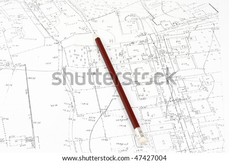 Geodetic map - stock photo