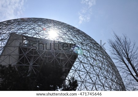 Geodetic structure of the Biosphere in Montreal, Quebec.