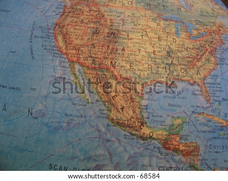 Geographic extract (USA) - stock photo