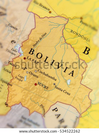 Bolivian Map Stock Images RoyaltyFree Images Vectors - Bolivia cities map