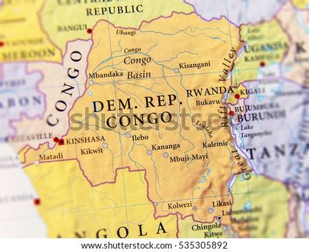 Congo Stock Images RoyaltyFree Images Vectors Shutterstock - Democratic republic congo map