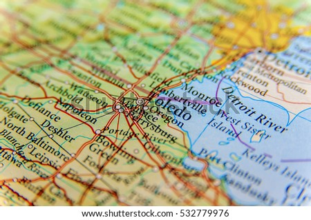 Geographic Map Us State Tennessee Important Stock Photo - Geographic map us
