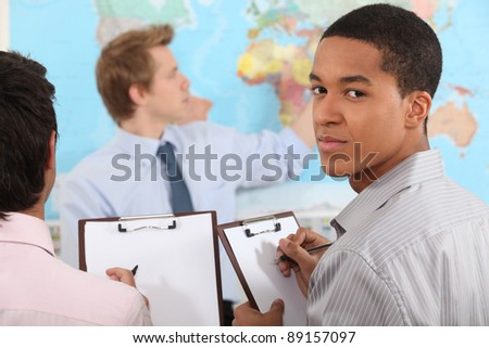 Geography class - stock photo