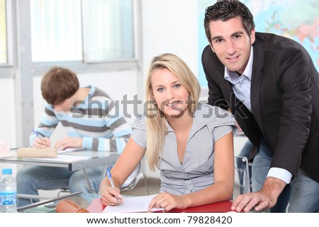 Geography lesson - stock photo