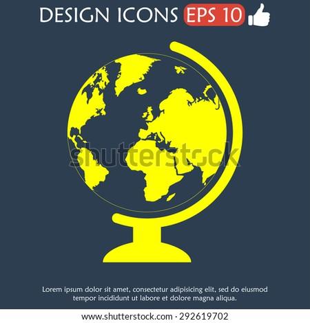 geography school earth globe web icon. - stock photo