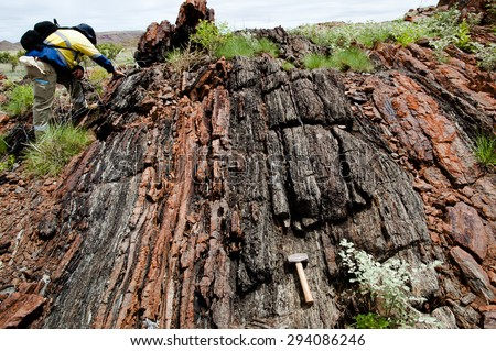Geologist at Work - stock photo