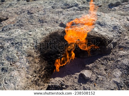 geology  energy  and power natural gas in mountain - stock photo