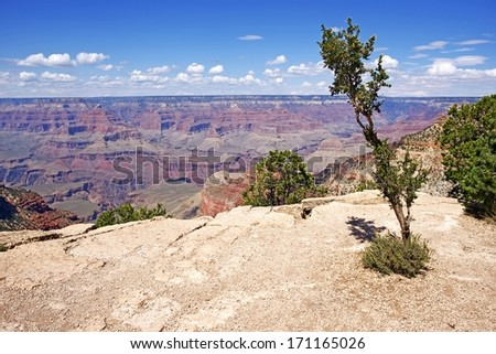 Geology of the Grand Canyon in Arizona, USA. Outstanding Grand Canyon Panorama. Arizona Photo Collection. - stock photo
