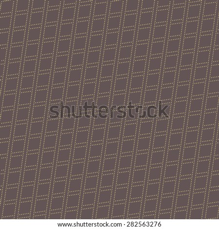 Geometric modern  seamless pattern. Abstract texture with golden diagonal dotted rhombuses