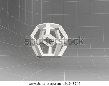 geometric object, 3D abstract - stock photo