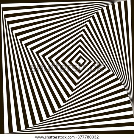 Optical illusion art circle vector background stock vector for Geometric illusion art