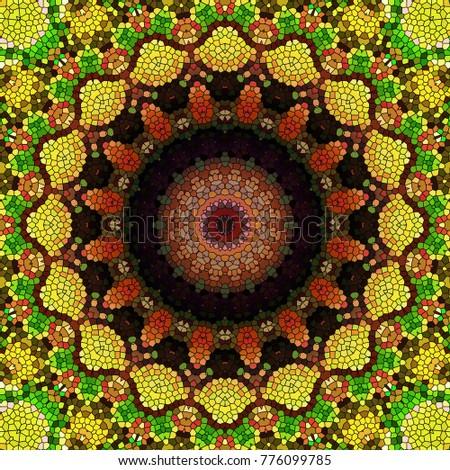Geometric Ornament Decorative Mosaic Texture Abstract Stock ...