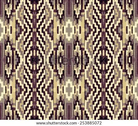 Geometric pattern on the fabric - stock photo