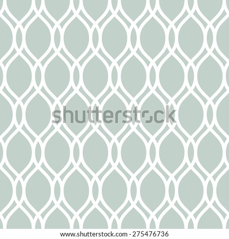 Geometric pattern. Seamless  background. Abstract texture for wallpapers. Blue and white colors - stock photo