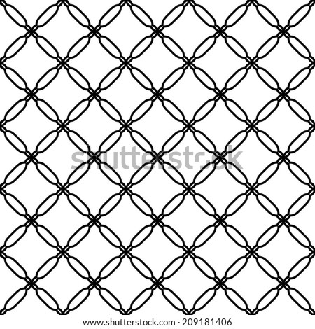Geometric pattern with oriental elements. Seamless  background. Abstract texture