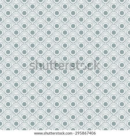 Geometric seamless curvy waves pattern  - stock photo