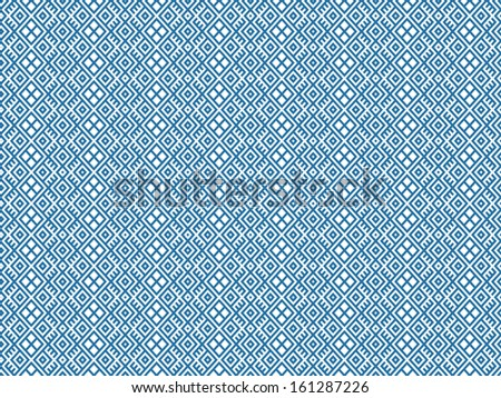 geometric seamless ethnic pattern background in blue and white colors, raster illustration  - stock photo