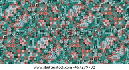 Geometric seamless pattern of square shapes.