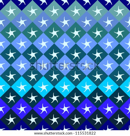 Geometric seamless pattern. Raster version of vector illustration.