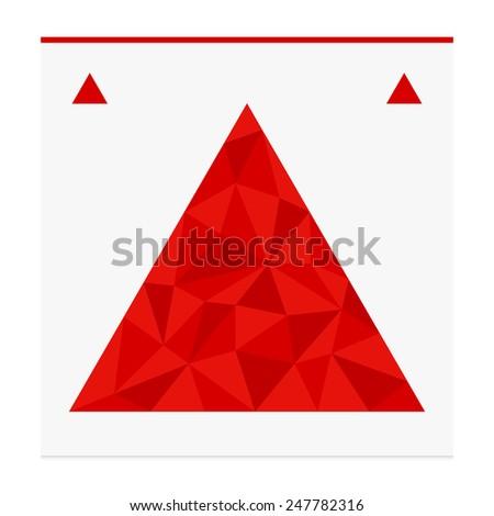 Geometric shape from triangles. Triangle - stock photo