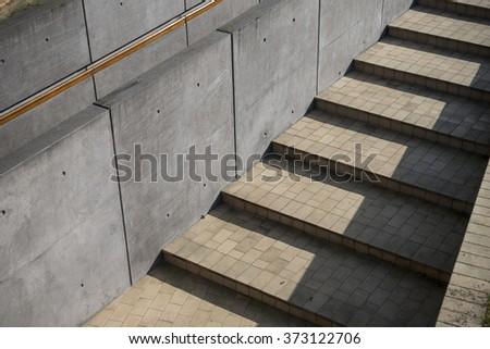 Geometric stairs - stock photo