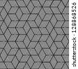 Geometric stripe pattern - seamless graphic cubes design - stock photo