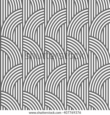 Geometric striped seamless pattern