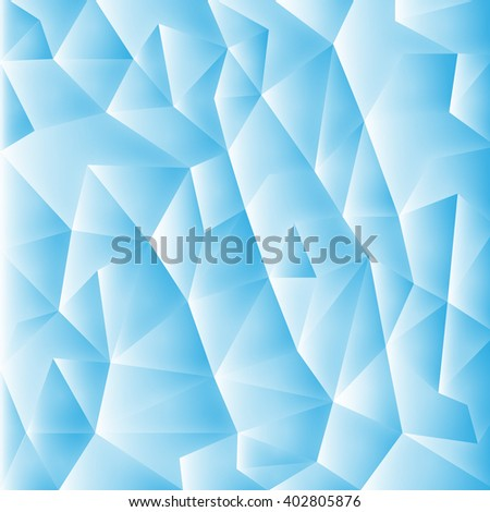 Geometric style abstract polygonal background - stock photo