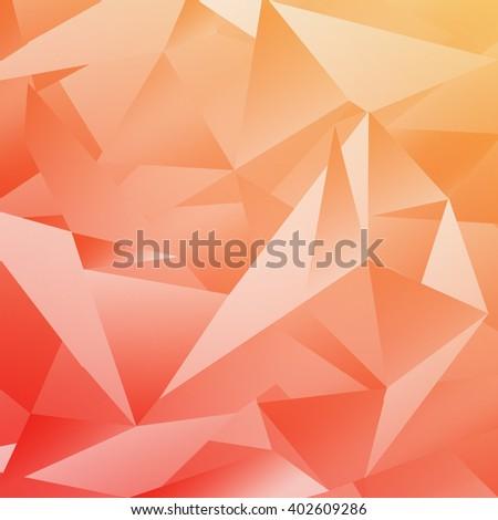 Geometric style abstract polygonal orange background - stock photo