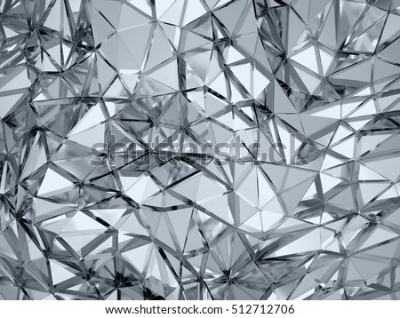 Geometric three dimensional golden metal background