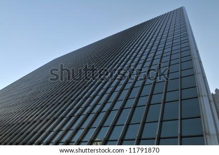 Geometric windows on a modern office building, Pittsburgh, Pennsylvania - stock photo