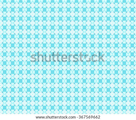 Geometrical mandala, pale blue weaving ornament pattern. Illustration background. - stock photo