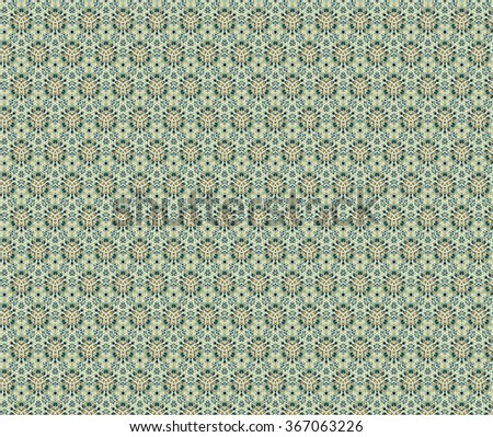 Geometrical mandala, pale green floral weaving ornament pattern. Illustration background. - stock photo