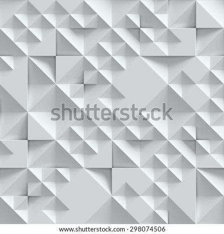geometrical seamless 3d background - stock photo