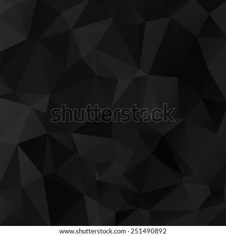 Geometrical triangular black background.  - stock photo