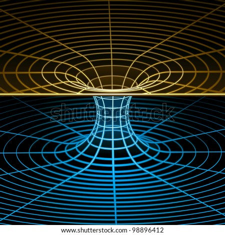 Geometry, Mathematics and Physics Wireframe Symbol. Rasterized Version - stock photo